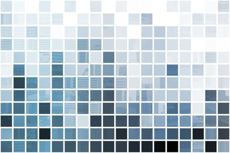 Blue Simplistic and Minimalist Abstract Block Background Stock Photo - 3617679