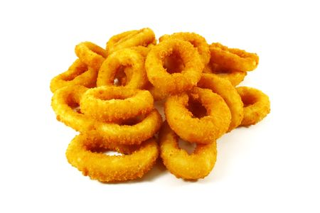 junkfood: Onion Rings Breaded and Deep Fried Until Crispy