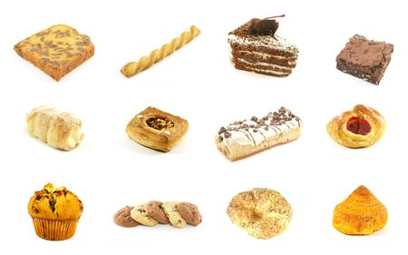Baked Goods Series 1 Isolated on a White Background photo