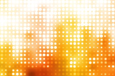 Orange and White Glowing Futuristic Light Orbs Abstract Background Banco de Imagens