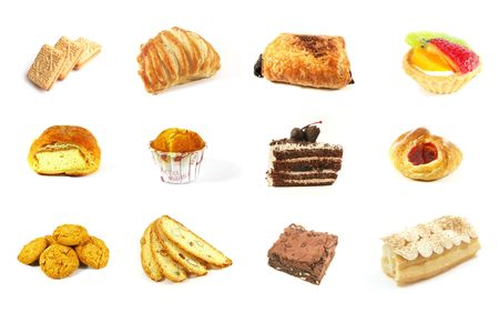 Baked Goods Series 2 Isolated on a White Background photo