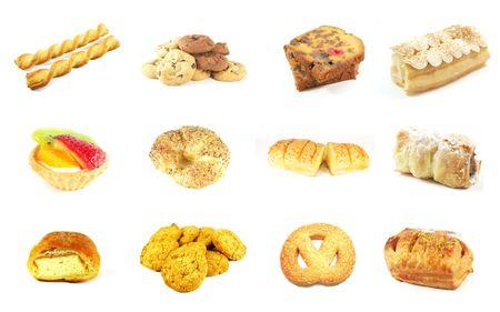 prodotti da forno: Prodotti da forno Serie 7 isolato su uno sfondo bianco