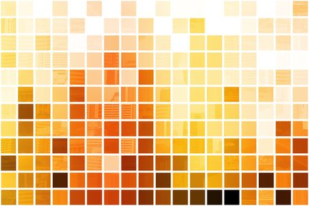Orange Cubic Professional Abstract Background in Clean Squares Stock Photo - 3660223
