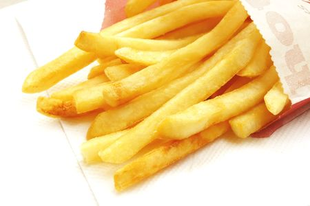 French Fries the popular and common fast food snack photo