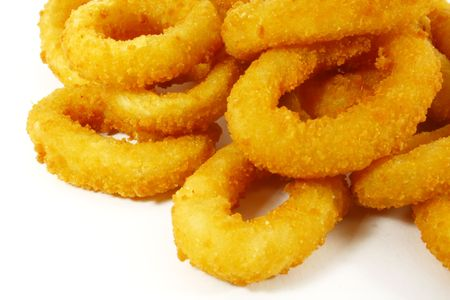 Onion Rings the Ultimate Fast Food Snack Stock Photo
