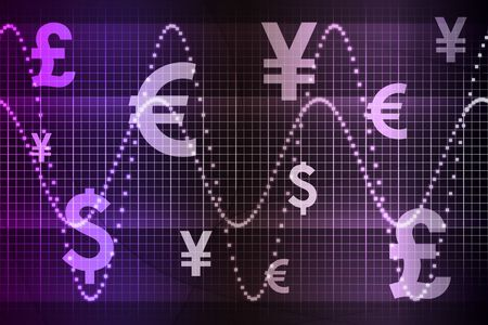 Purple World Currencies Business Abstract Background Wallpaper Stock Photo - 3679754