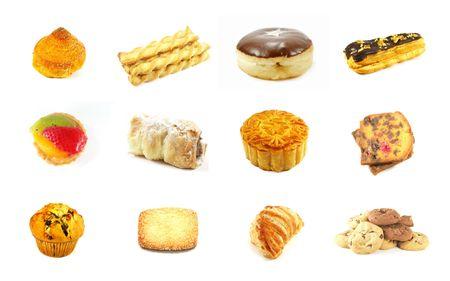 prodotti da forno: Prodotti da forno Serie 3 isolato su uno sfondo bianco