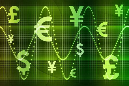 Green World Currencies Business Abstract Background Wallpaper Stock Photo - 3688686