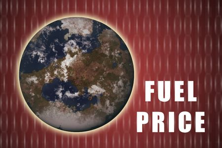 fuel crisis: Fuel Crisis Current Global Situation on Red Abstract