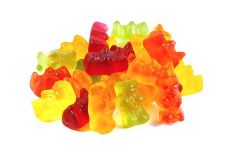 Gummi bears the ultimate candy snack for kids and children photo