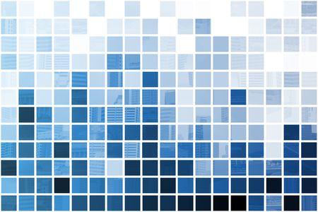 Blue simplistisch en Minimalistisch Abstract Blok Achtergrond