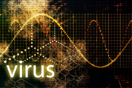 Virus Abstract Background in Web Security Series Set