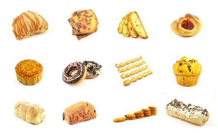 Baked Goods Series 4 Isolated on a White Background photo