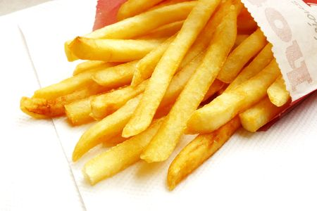 ultimate: French Fries the ultimate Fast Food Snack of the masses Stock Photo