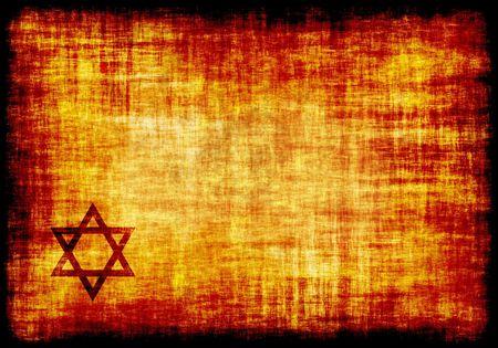 etoile juive: Jewish Star Engraved sur un parchemin Contexte