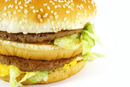 ultimate: Hamburger Sandwich the ultimate fast food meal Stock Photo