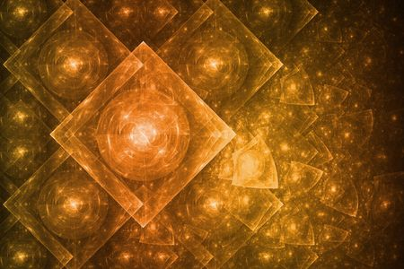 crystalline gold: Bright Crystal Glowing Formation Abstract Background Wallpaper Stock Photo