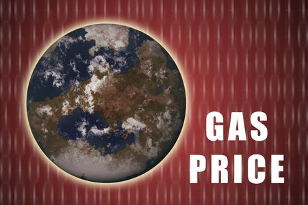 rapidly: Gas Prices Increasing Rapidly on a Global Scale Stock Photo