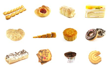 Baked Goods Series 5 Isolated on a White Background Stock Photo