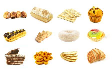 prodotti da forno: I prodotti da forno Serie 6 isolato su uno sfondo bianco