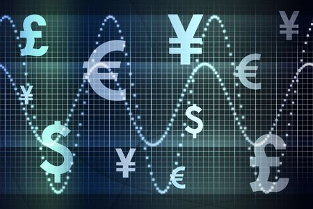 Glowing Global Currency Business Abstract Background Wallpaper Stock Photo - 3816060