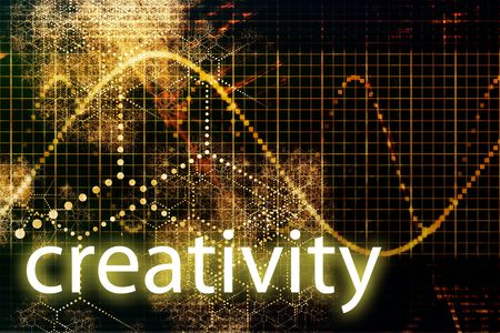 Creativity Abstract Technology Concept Wallpaper Background With Graph photo