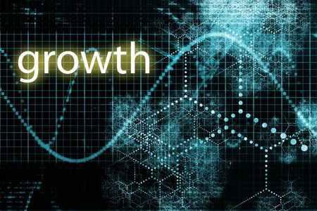 A Business Growth Abstract Futuristic Tech Background  photo
