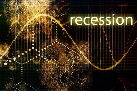 slump: Recession Economy Business Concept Wallpaper Presentation Background