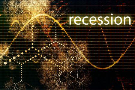 Rezession Economy Business Concept Wallpaper Präsentation Hintergrund