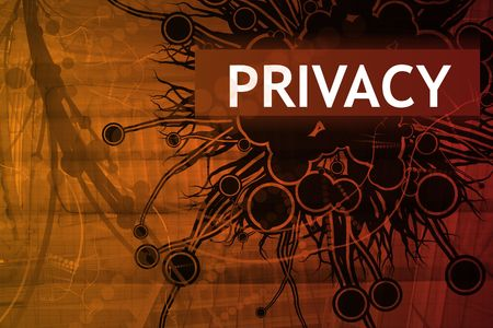 Privacy Security Alert Abstract Background in Red Stock Photo - 3820068