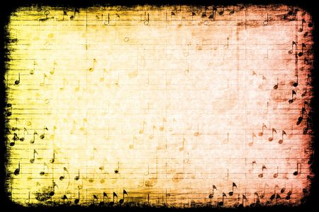 themed: A Music Themed Abstract Grunge Background Texture Stock Photo