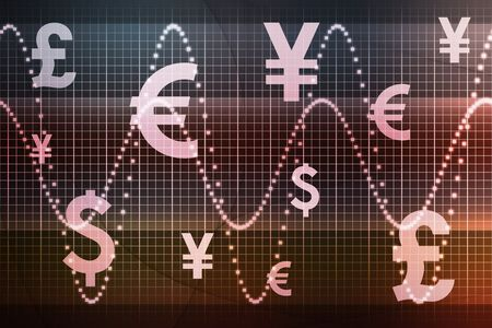 Futuristic World Currencies Business Abstract Background Wallpaper Stock Photo - 3820115