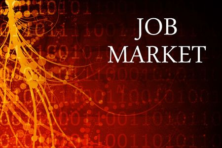 Job Market Abstract Background in Red and Black photo
