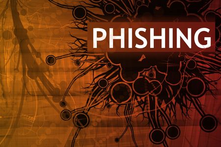 Phishing Security Alert Abstract Background in Red Stock Photo - 3850505