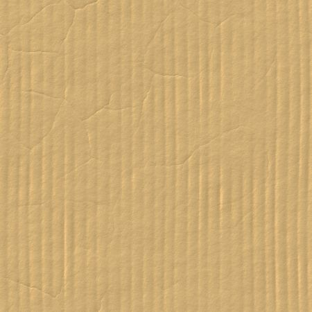 Seamless Cardboard Texture With Corrugated Crease Line Stock Photo - 3850513