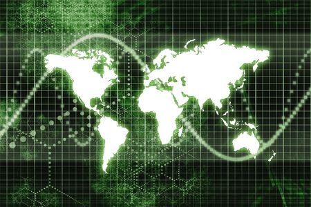 Green Worldwide Business Communications Performance Abstract Background photo