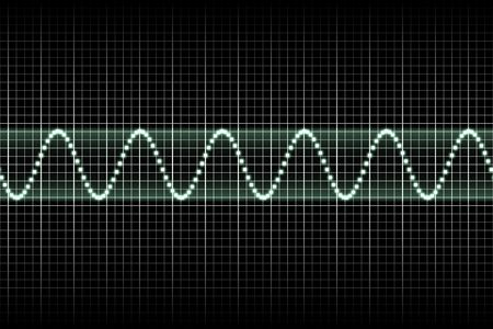 graphical: Futuristic Thumping Music Beats With Sound Waves Going Up and Down