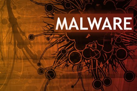 adware: Malware Security Alert Abstract Background in Red Stock Photo