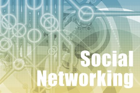 Social Networking Abstract Background in Blue Color Stock Photo - 3900643