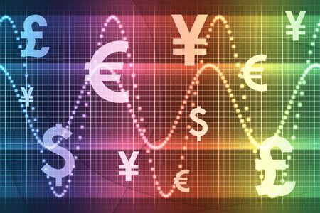 Rainbow Financial Sector Global Currencies Abstract Background Wallpaper photo