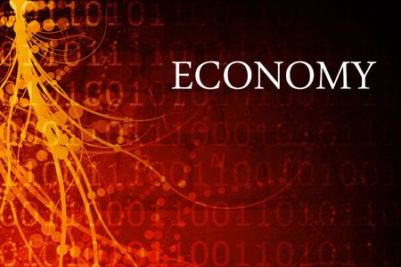 Economy Abstract Background in Red and Black photo