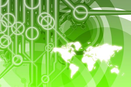 p2p: Global Business Color Technology Abstract in Colors Stock Photo
