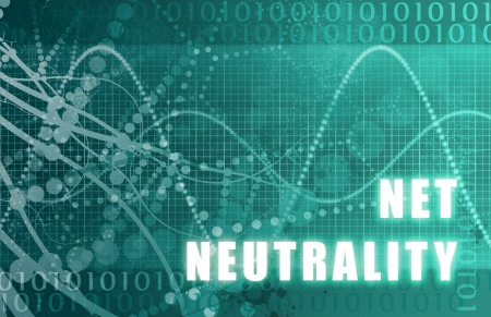 topics: Net Neutrality on a Digital Tech Background Stock Photo