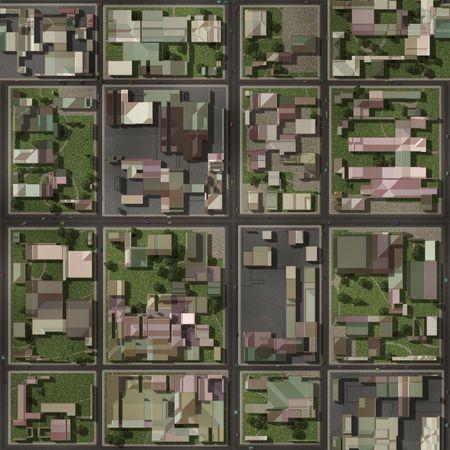 aerial: Real Estate Property Neighborhood Homes Top View