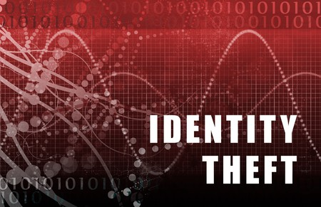 web scam: Identity Theft Abstract on A Digital Background