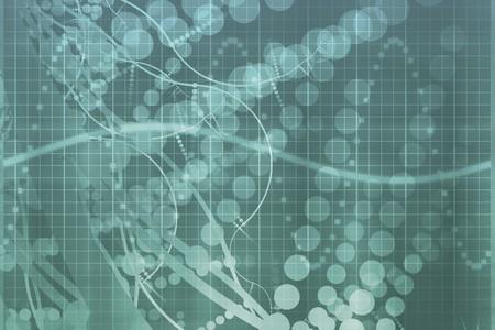 Sciences médicales bleu technologie futuriste Résumé historique