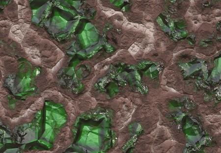 uncut: Emerald Stone Vena sepolto nella terra e di pietra