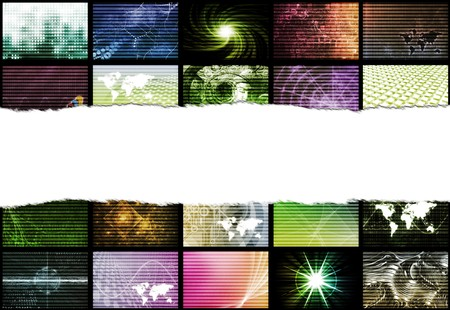 Trendy Digital Abstract With Space for Text photo