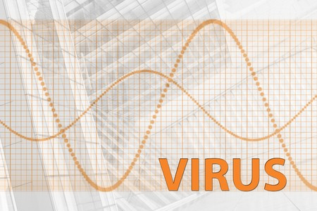 Virus Abstract Background in Web Security Series Set photo