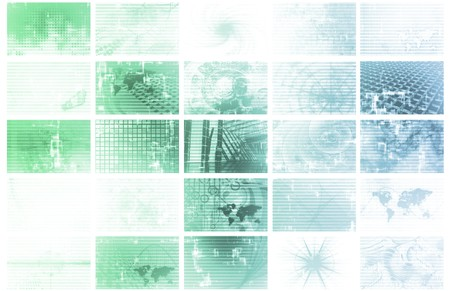 Futuristic Web Cyber Data Grid Color Background photo